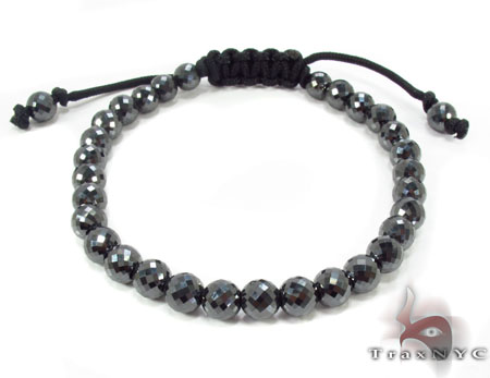 Pineapple-Cut-Black-Diamond-Rope-Bracelet-30703-Rope-Bracelets-1