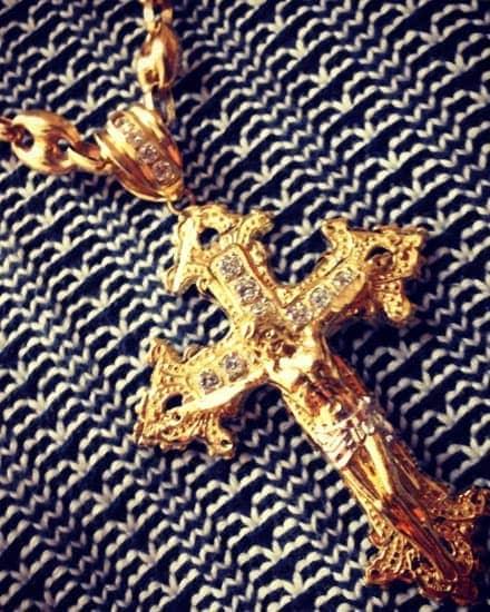 Mens Gold Crosses