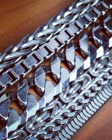 Mens Silver Chains