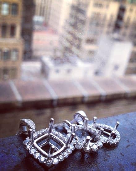 Diamond Semi Mount Pendants