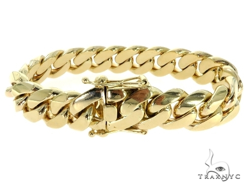 Custom Yellow Gold Miami Cuban Bracelet