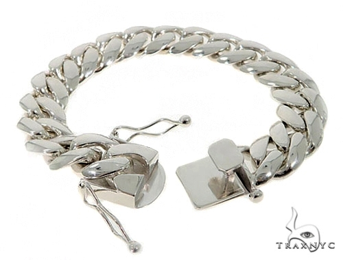 Custom White Gold Miami Cuban Bracelet