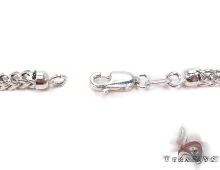 Custom White Gold Semi-Hollow Franco Chain