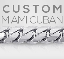Custom White Gold Miami Cuban Link Gold