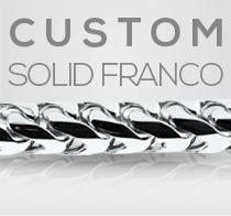 Custom White Gold Solid Franco Chain