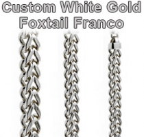 Custom White Gold Foxtail Franco Chain Gold