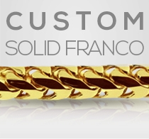 Custom Yellow Gold Solid Franco Chain Gold