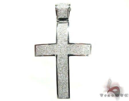White Gold Adorn Cross Diamond