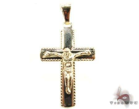 Side-Studded Cross Gold