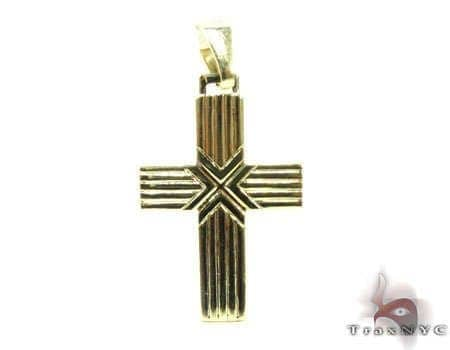 Striped Cross Gold