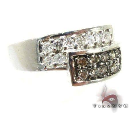 Ladies Black and White Ring Anniversary/Fashion