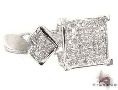 WG White Diamond Ring Anniversary/Fashion
