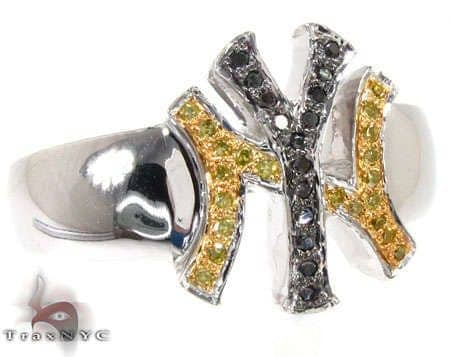 WG Canary & Black Yankees Ring Stone