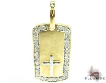 YG Crucifix Dog Tag Metal