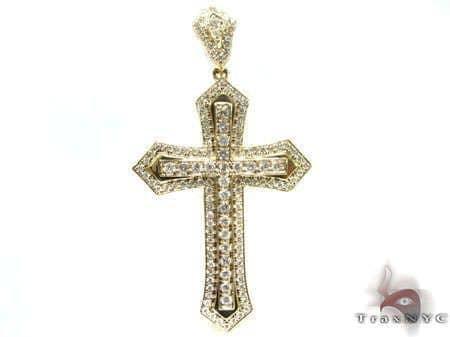 Roman Cross メンズ ダイヤモンド クロス