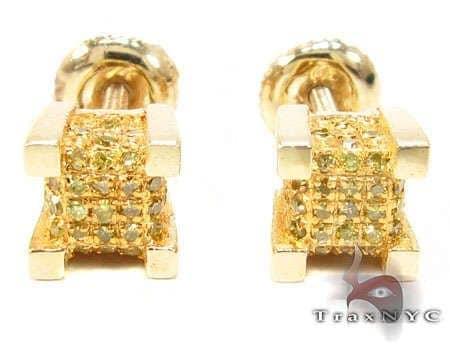 YG Canary Ice Cube Earrings Stone