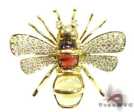 Authentic Bee Pendant Stone