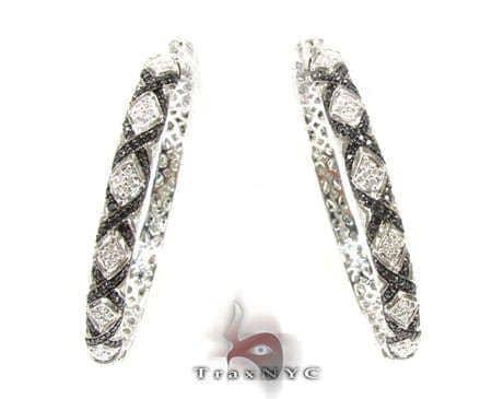 Eve Black & White Diamond Hoops Style
