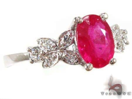 Ruby Leaf Ring Anniversary/Fashion