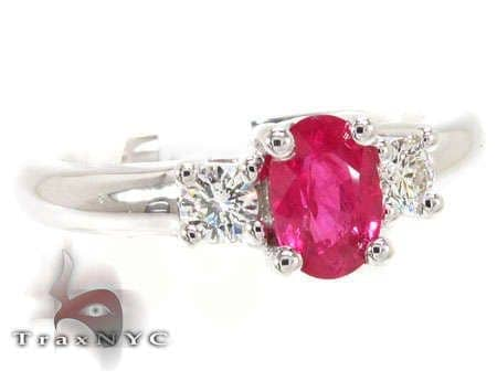 Light Ruby & Diamond Ring Anniversary/Fashion