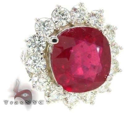 Ruby Flower Ring Anniversary/Fashion