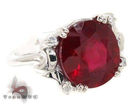 Ruby Satin Ring Anniversary/Fashion