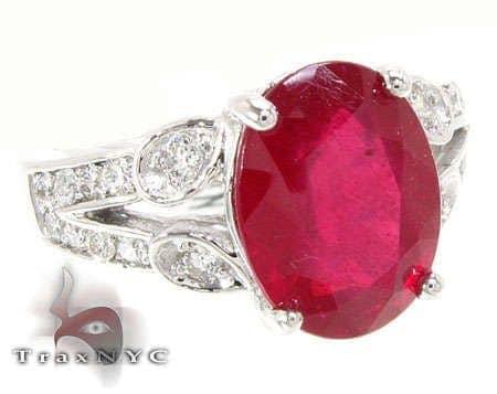 Ladies Ruby Polo Ring Anniversary/Fashion