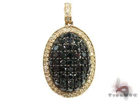 Black & White Diamond Pendant Stone