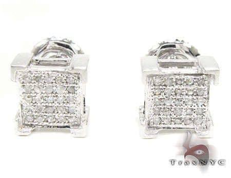 White Castle Earrings Stone