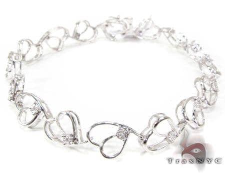 Swirl Hearts Bracelet 2 Diamond