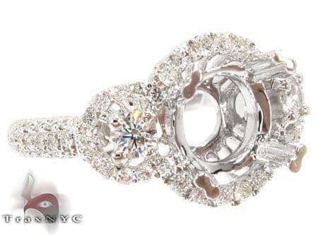 Diamond Outline Semi Mount Ring Engagement