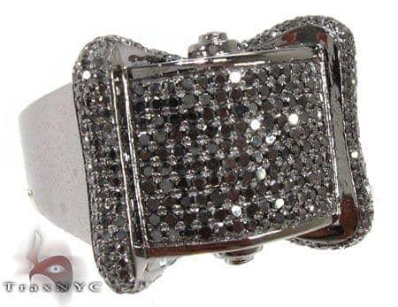 Black Bowtie Ring Stone