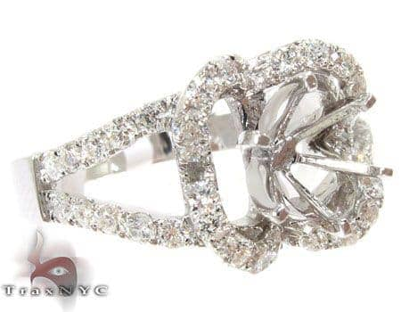VS Four-Leaf Semi Mount Ring Engagement