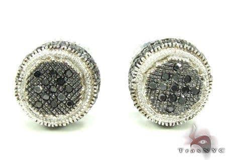 Black & White Bush Earrings 2 Stone
