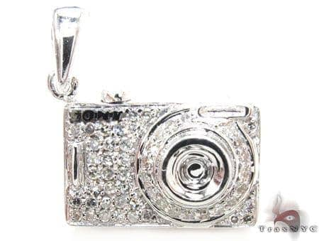 Iced Out Camera Pendant Metal
