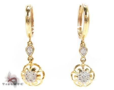 Flower Chandelier Earrings Stone