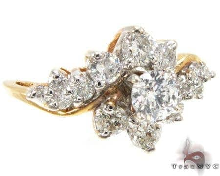 YG Flower Bouquet Ring Engagement