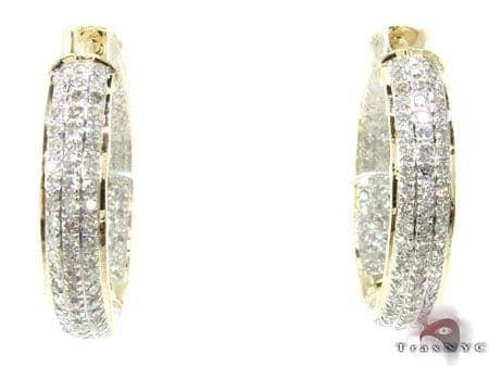 YG Fiji Hoop Earrings 4 Stone
