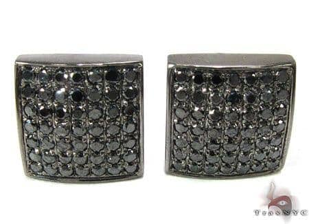 Johnny's Black Diamond Earrings 1 Stone