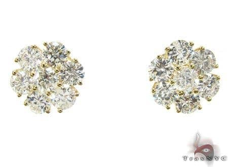 YG Cluster Earrings 2 Stone