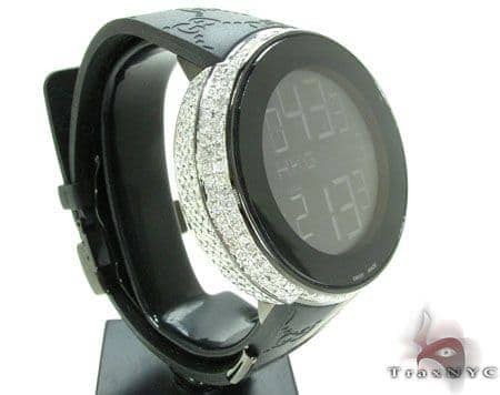 Fully Iced Digital Black Super Gucci Watch Gucci