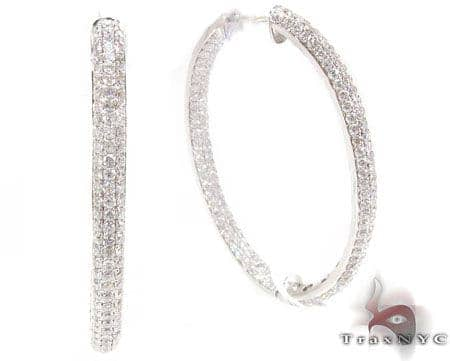 Iced Oval Hoops Stone