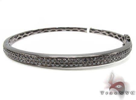 2 Row Black Diamond Women's Bracelet Diamond