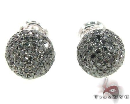 Black Berry Studs 3 Stone
