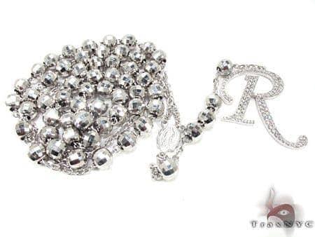 Custom R Initial Rosary Chain Rosary