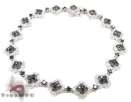 Black Diamond Flowers Bracelet Diamond