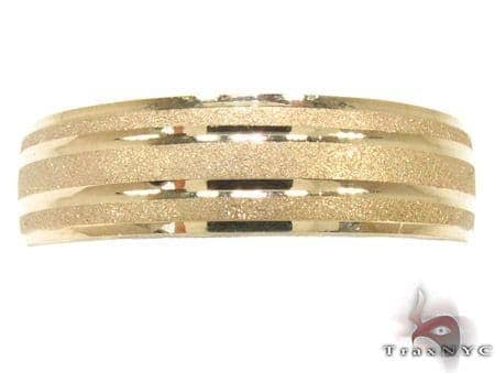 Yellow Gold Strip Frosted Ring Style