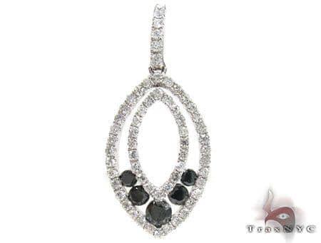 Classic Black & White Diamond Pendant 3 Stone
