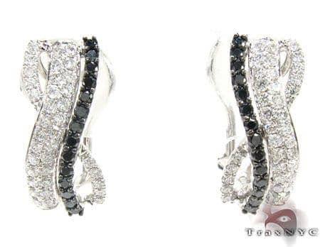 Black & White Twist Earrings Stone