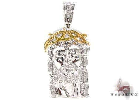 Unique Canary & White Jesus Pendant Metal